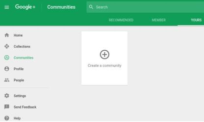 Google+ community screenshot (1)
