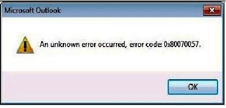 Windows Update Error 0x8007057 code