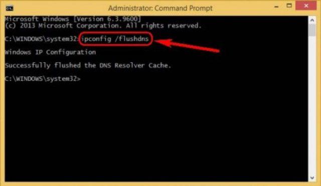 Flush your DNS
