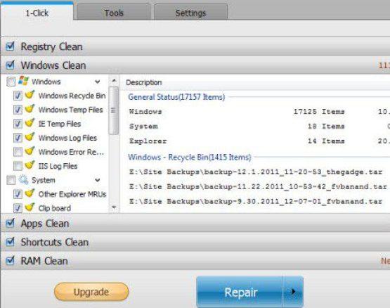 Remove Junk Files & Junk Registry Entries