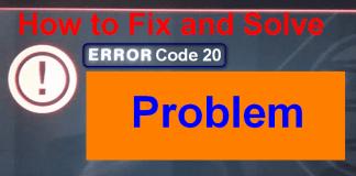 Error Code 20