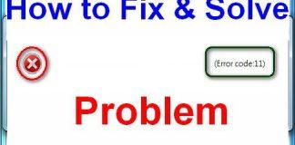 Error Code 11