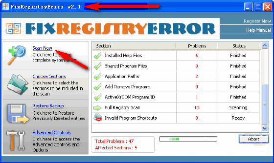 Fix Registry Error