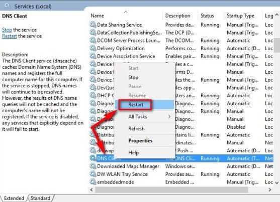 Restart your DNS Client