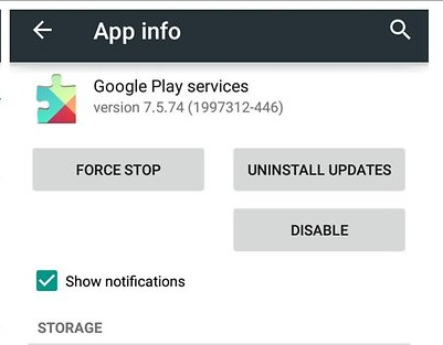 Update or Uninstall Google Play Store Updates Unfortunately Google Play Services has Stopped