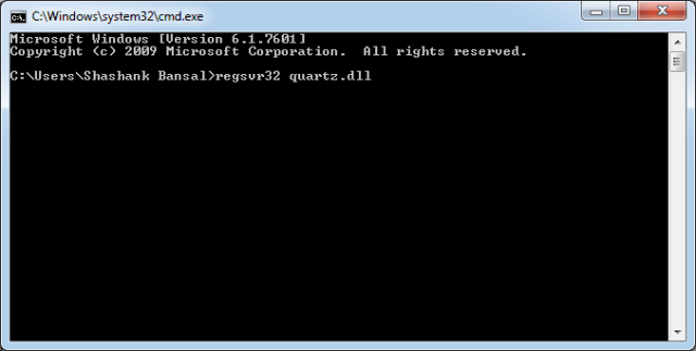 By using the Cmd (Command Prompt)