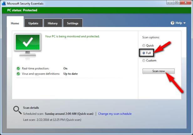 Scan your PC for Virus/Malware -