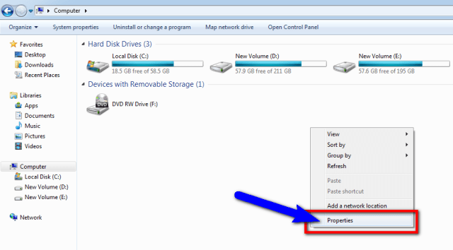 Check your Hard Disk configuration
