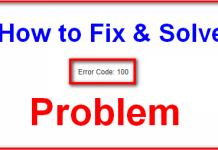 Error 100