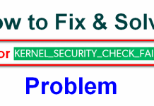 KERNEL_SECURITY_CHECK_FAILURE