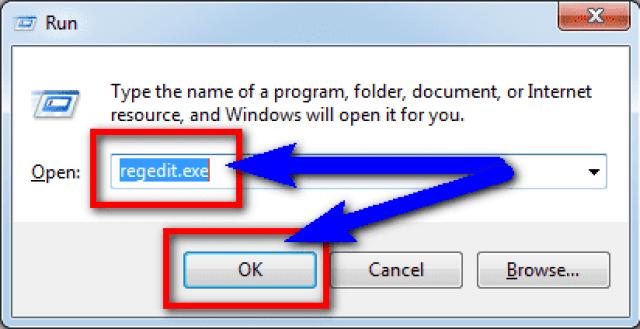 Fix by 'regedit' Command