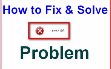 Error Code 103