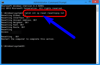 Reset TCP/IP on your PC ERR_CONNECTION_TIMED_OUT