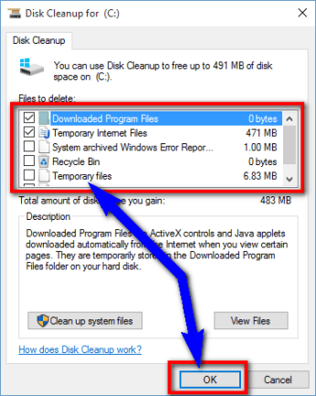 Run a Disk Cleanup of your PC