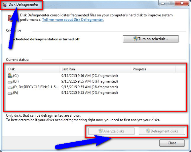 Run a Disk Defragmentation or Backup Utilities 0xc000009a