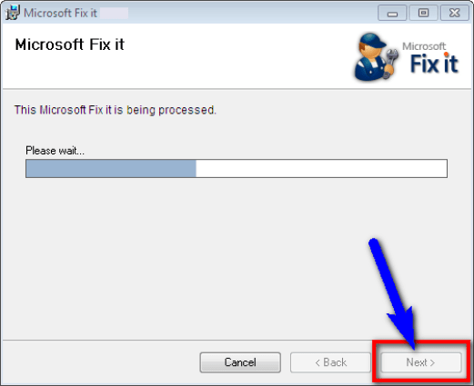 Try Fixing by Microsoft Fix it Wizard