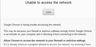 ERR_NETWORK_ACCESS_DENIED
