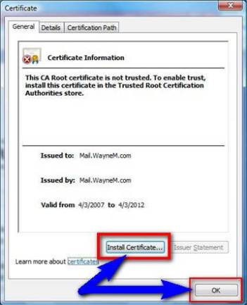 Fix by Installing required Certificate