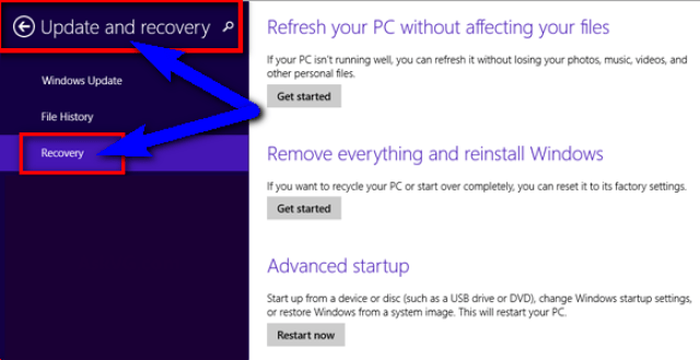 Reset or Reinstall the Windows