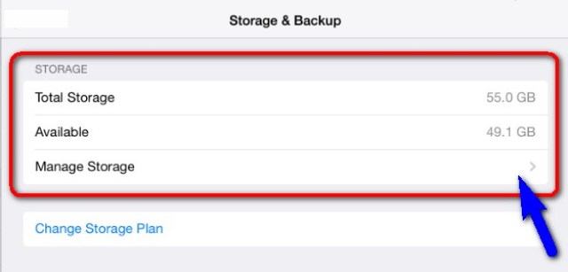 Check your Device Storage