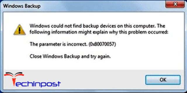 Error Code 0x80070057