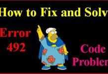 Error Code 492
