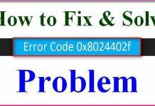 Error 0x8024402f