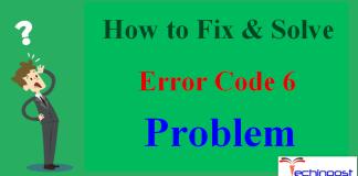 Error Code 6