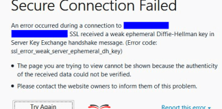 SSL_ERROR_WEAK_SERVER_EPHEMERAL_DH_KEY