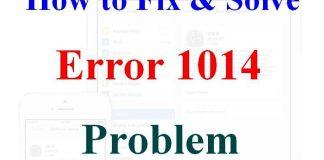 Error 1014