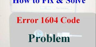 Error 1604