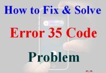 Error Code 35