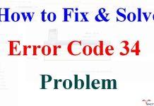 Error Code 34