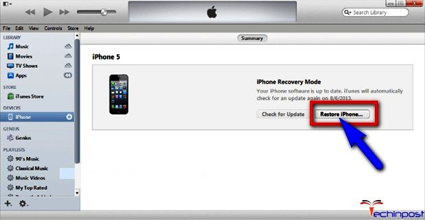 By using the Recovery Mode in iTunes iPod is Disabled Connect to iTunes