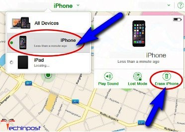 Erase your iPhone Device with iCloud Forgot iPhone Passcode