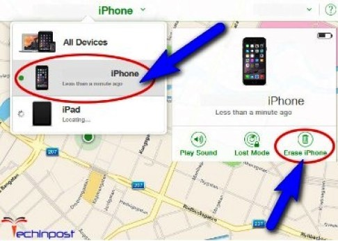 Erase your iPhone Device with iCloud