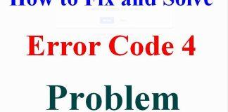 Error Code 4