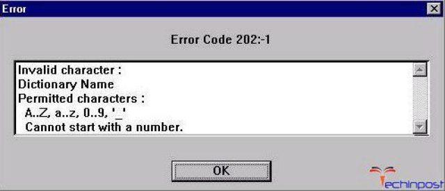Error 202