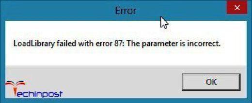Error 87