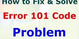 Error 101
