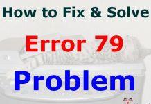 Error 79