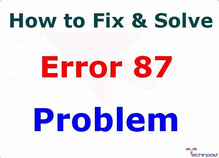 dism.exe error 87 windows 10