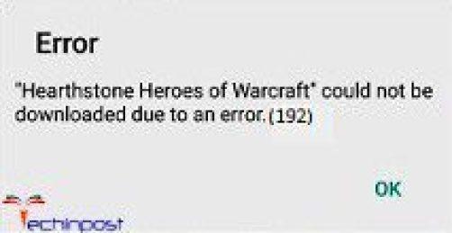 Error 192