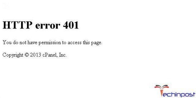Error 401