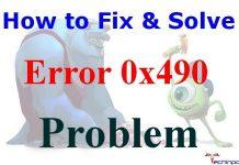 Error Code 0x490