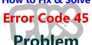 Error Code 45
