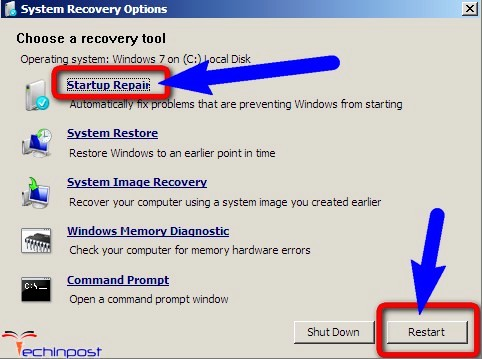 PROCESS1_INITIALIZATION_FAILED Run a Startup Repair on your Windows PC