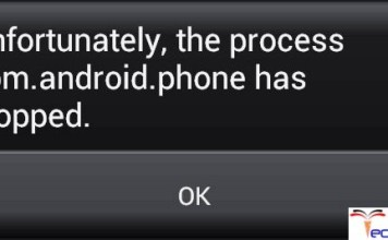 Unfortunately The Process Com.Android.Phone Has Stopped Unexpectedly