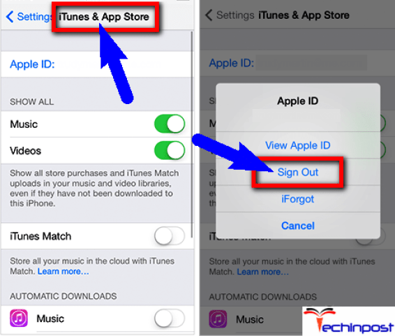 Delete Apple ID from your IOS Device