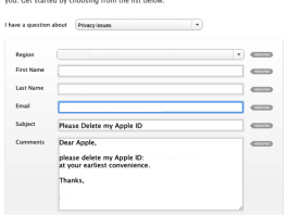 Delete your Apple ID Account through Apple Support